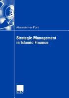 Strategic Management in Islamic Finance PDF