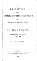 An Exposition of the Epistle to the Hebrews PDF