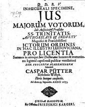 Jus majorum votorum. - Giessae Hassorum, Fried. Karger 1673