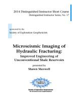 Microseismic Imaging of Hydraulic Fracturing PDF