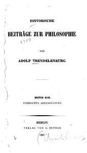Historische Beiträge zur Philosophie: Band 3