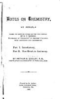 Notes on Chemistry PDF