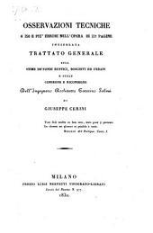 Osservazioni tecniche a 250 e piu errori nell' opera ... intitolata Trattato generale sulle stime de fondi rustici ... di Caterino Sabini. - Milano, Luigi Nerveti 1830