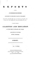 Reports of the Commissioners Appointed in Pursuance of Acts of Parliament     to Inquire Concerning Charities and Education of the Poor in England and Wales PDF