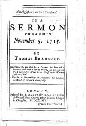 Non-Resistance without Priestcraft: in a sermon preach'd November 5. 1715