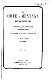 Da Orte a Mentana: lettera documentata