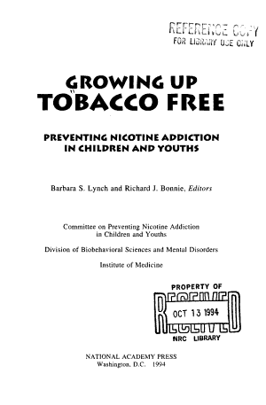 Growing Up Tobacco Free
