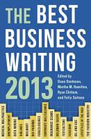 The Best Business Writing 2013 PDF