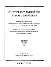 Willcott  Kay  Timberlake  and Allied Families PDF