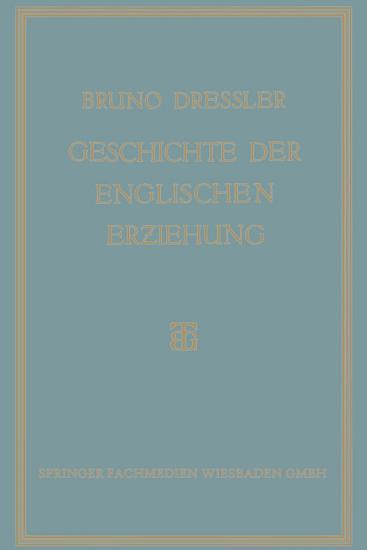 Geschichte der englischen Erziehung PDF
