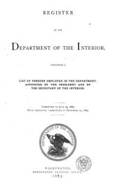 Register of the Department of the Interior