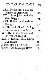 Robin Hood's Garland. Being a compleat history, etc