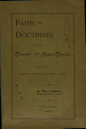 Faith and doctrines of the Church of Jesus Christ