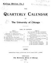 Quarterly Calendar: Volumes 1-2