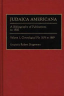 Judaica Americana  Chronological file 1676 to 1889 PDF