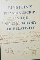 Einstein s 1912 Manuscript on the Special Theory of Relativity PDF