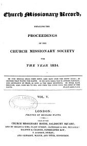 Proceedings of the Church Missionary Society for Africa and the East...: Volume 5