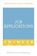 Job Applications in a Week  Teach Yourself PDF