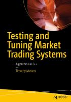 Testing and Tuning Market Trading Systems PDF