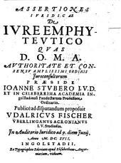 Assertiones Iuridicae De Iure Emphyteutico