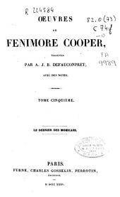 Oeuvres de Fenimore Cooper: Le dernier des mohicans
