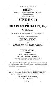The eloquent speech of Charles Phillips: Volume 8