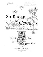 Days with Sir Roger de Coverly