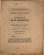 Funérailles de M. Hachette: discours de M. Arago ... le samedi 18 janvier 1834