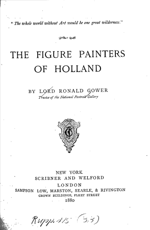 The Figure Painters of Holland PDF