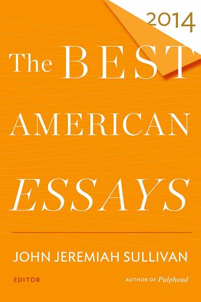 Download The Best American Essays 2014 Book