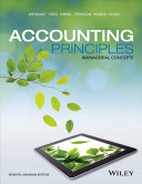 Accounting Principles  Managerial Concepts Seventh Canadian Edition