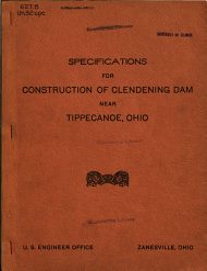 Specifications for Constructing Clendening Dam  Brushy Fork  Stillwater Creek  Near Tippecanoe  Ohio PDF