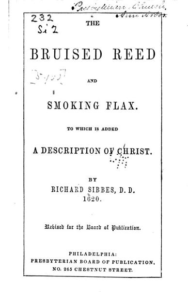 Download The Bruised Reed and Smoking Flax      Book
