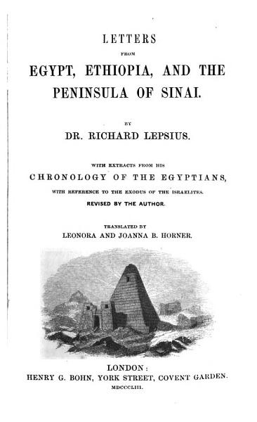 Download Letters from Egypt  Ethiopia  and the Peninsula of Sinai Book