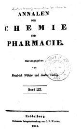 Justus Liebig's Annalen der Chemie: Bände 59-60