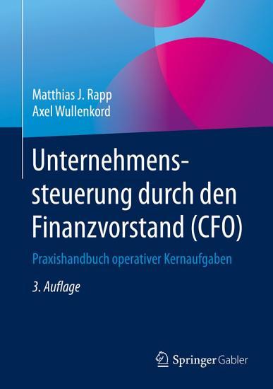 Unternehmenssteuerung durch den Finanzvorstand  CFO  PDF