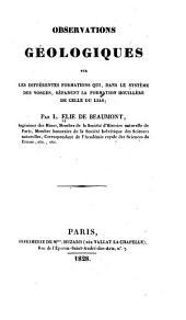 Observations géologiques sur les différentes formations qui, dans le système des Vosges, séparent la formation houillère de celle du lias