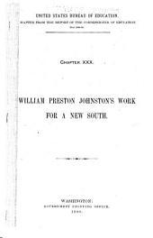 William Preston Johnston's Work for a New South