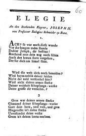 Elegie An den Sterbenden Kayser, Joseph II.