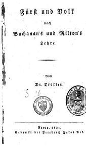 Fürst und Volk nach Buchanan's und Milton's Lehre