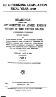 AEC Authorizing Legislation  Fiscal Year 1969 PDF