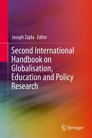 Second International Handbook on Globalisation  Education and Policy Research PDF