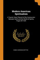 Modern American Spiritualism