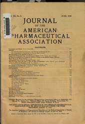 Journal of the American Pharmaceutical Association: Volume 7, Issue 6
