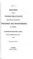 Berichte   ber die Verhandlungen der K  niglich S  chsischen Gesellschaft der Wissenschaften zu Leipzig PDF