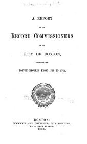 Report of the Record Commissioners of the City of Boston: Volume 12