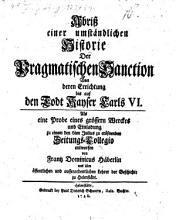 Abri   einer umst  ndlichen Historie Der Pragmatischen Sanction PDF