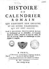 Histoire du calendrier romain