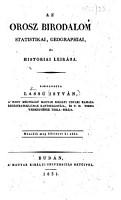 Az Orosz Birodalom statistikai  geographiai    s hist  riai leir  sa     M  sodik meg b  vitett ki ad  s PDF
