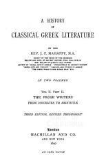 A History of Classical Greek Literature PDF